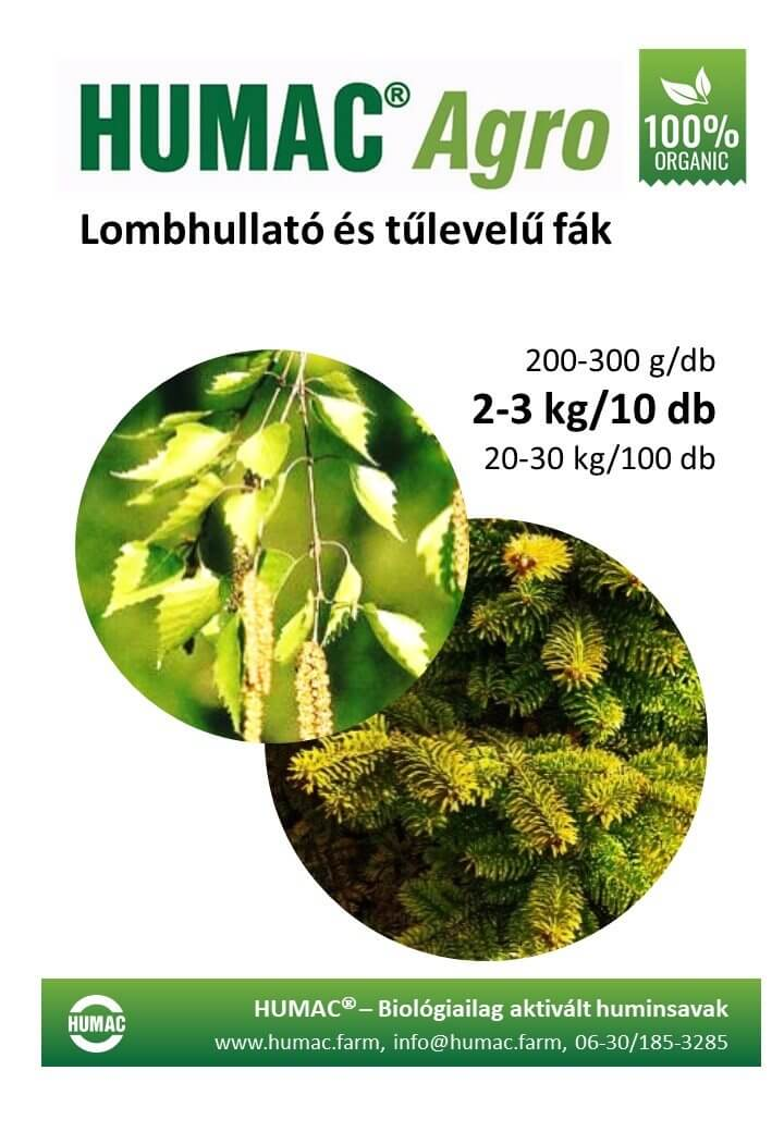 Humac Agro lombhullató fák
