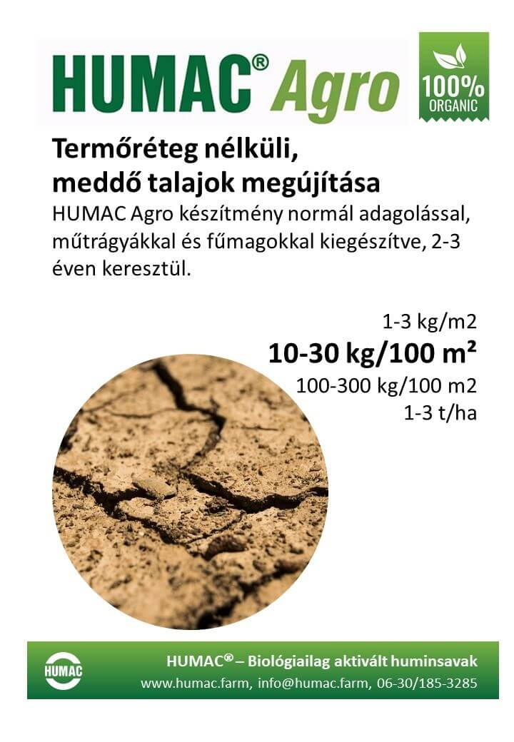 Humac Agro meddő talajok