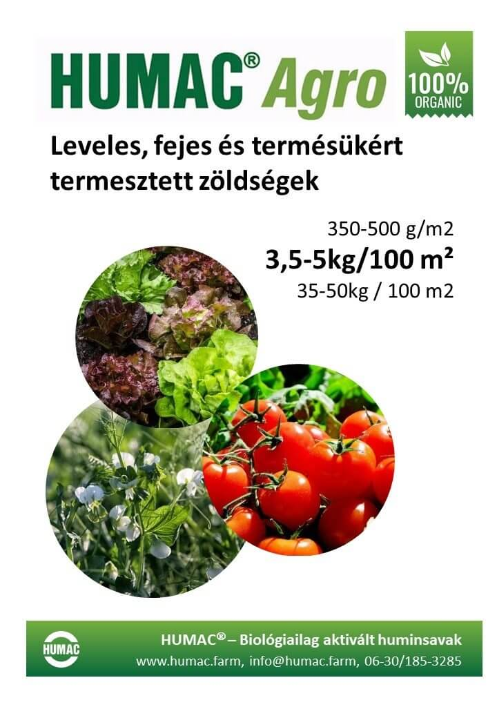 Humac Agro leveles és fejes zöldségek