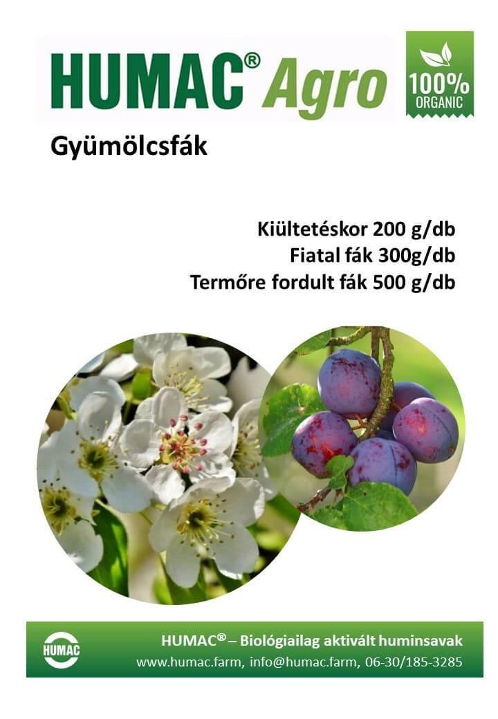 Humac Agro gyümölcsfák